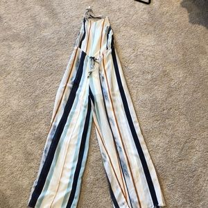 Lulus stripped jumpsuit
